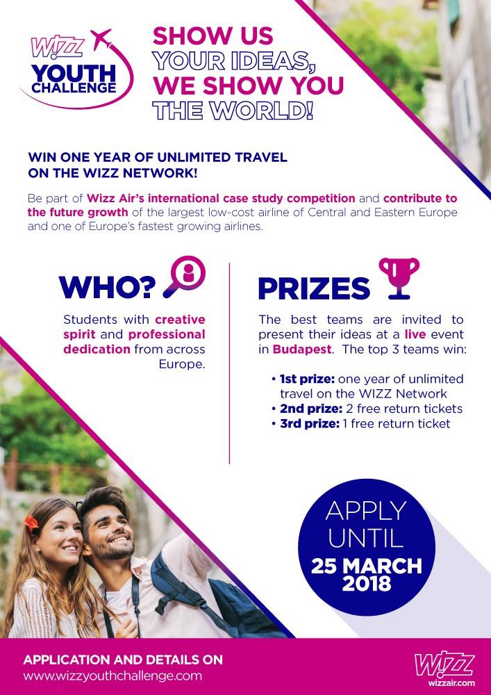 Wizz Air uruchamia drugą edycję Wizz Youth Challenge