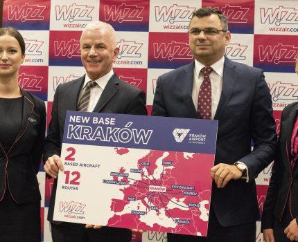 Wizz Air ogłasza otwarcie nowej bazy w Krakowie
